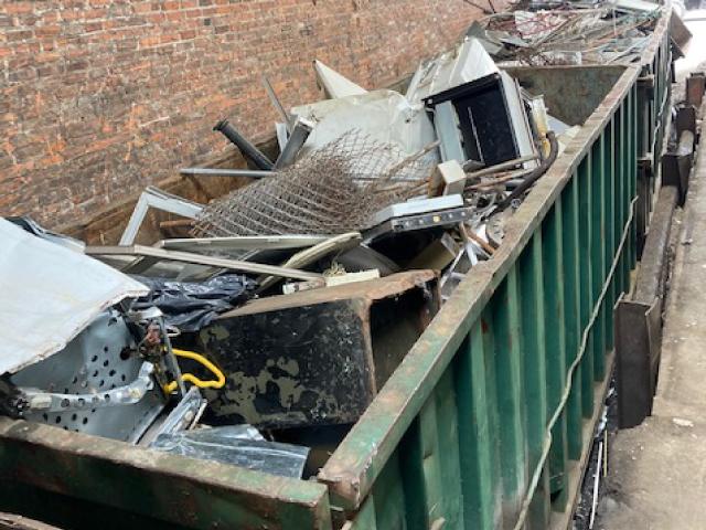 Metal-on-Dumpster